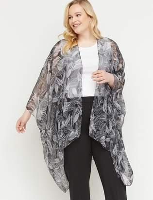 Lane Bryant Floral Chiffon Kimono