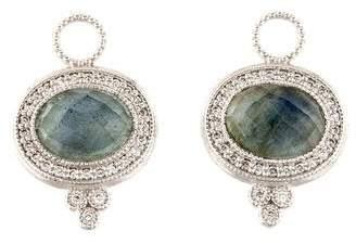 Jude Frances 18K Labradorite Doublet & Diamond Earring Charms