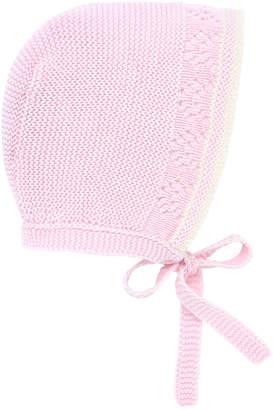 Carrera Pili Two-Tone Knit Baby Bonnet