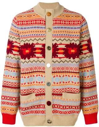 Sacai patterned cardigan