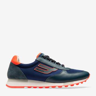 Galaxy Blue, Men's Calf Leather Sneaker In Prusse