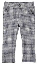 Officina51 Infants' Checked Cotton-Blend Fleece Leggings - Gray