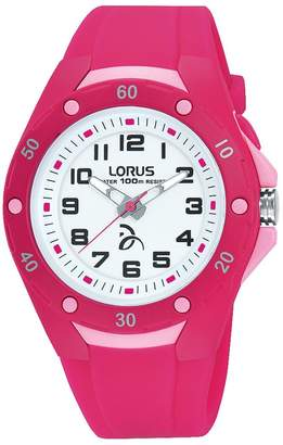 Lorus Unisex-Child Analogue Classic Quartz Watch with Silicone Strap R2371LX9