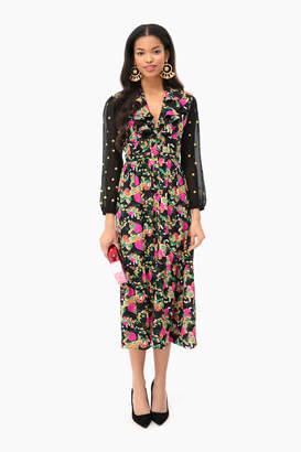 Saloni Hydrangea Embroidered Ginny Short Dress