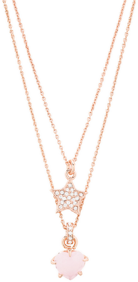 Juicy Couture Double Layer Pave Star Necklace