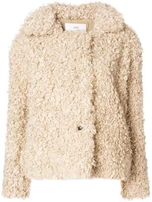 Closed artificial fur jacket