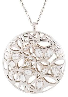Di Modolo Rock Crystal Large Medallion Pendant Necklace