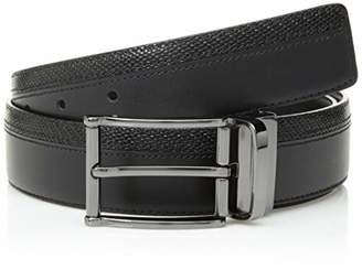 Bugatchi Men's Fashion Dress Leather Belt Two Textures