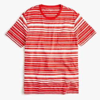 J.Crew Jeans slub cotton T-shirt in variegated stripe