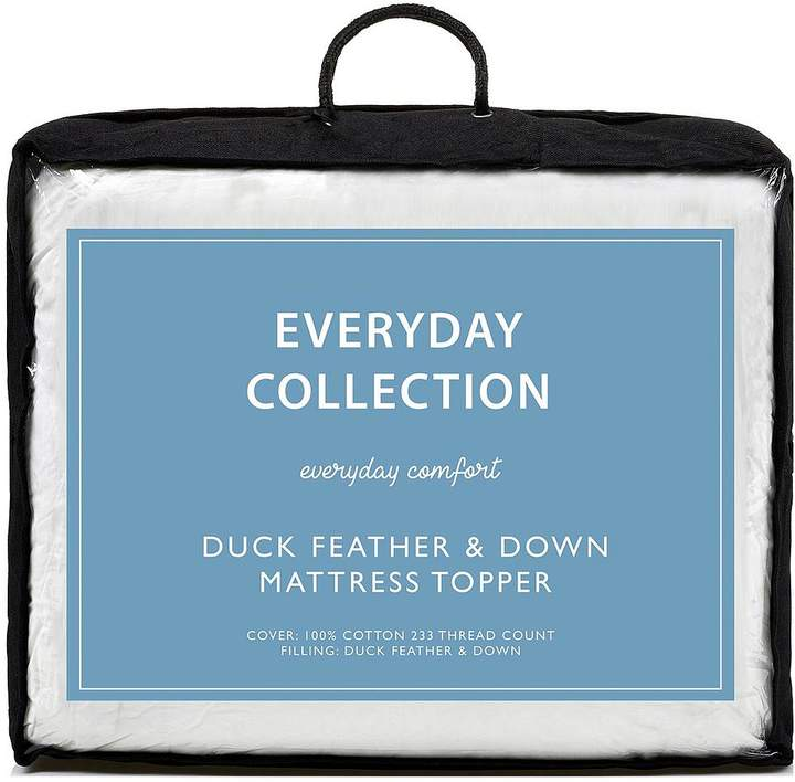 Everyday Collection Duck Feather And Down 5 Cm Mattress Topper
