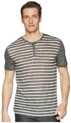 John Varvatos Collection - Short Sleeve Stripe Henley K2266U1