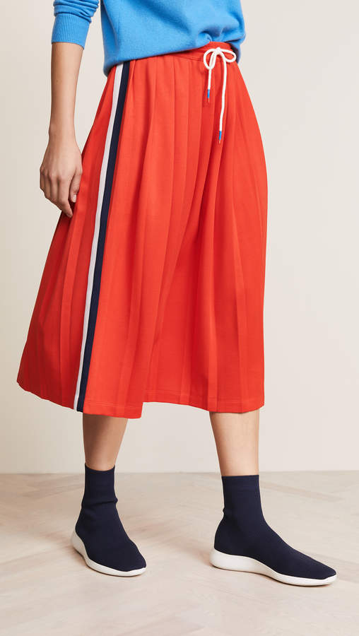 Tory Sport Double Stripe Track Skirt