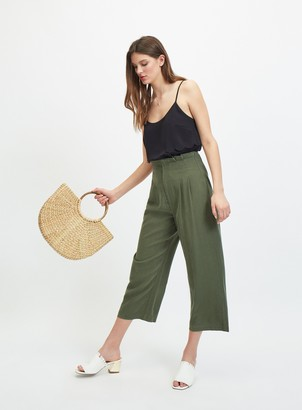 Miss Selfridge Khaki Corset Crop Trousers