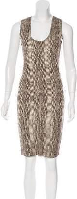 Lanvin Silk Animal Pattern Dress
