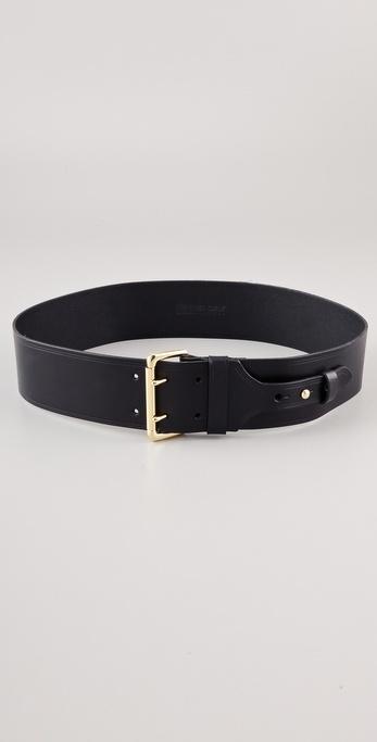 Linea Pelle Buckle and Collar Stud Belt
