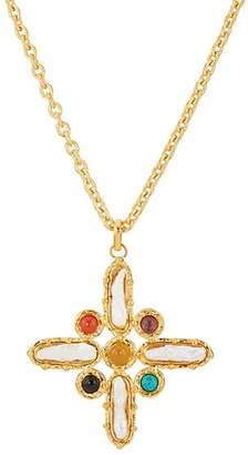 Sylvia Toledano Women's Baroque Cross Pendant Necklace - Gold
