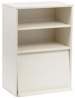 IRIS USA, Inc. IRIS Open Wood Shelf with Pocket Door, Off White, Collan Series