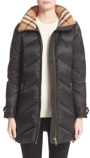 Women's Burberry Eastwick Chevron Quilted Coat