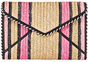 Rebecca Minkoff Leo Straw Envelope Clutch Bag