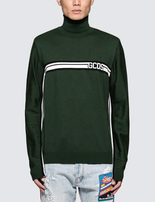 Gcds Basic Logo Turtleneck Sweatshirt