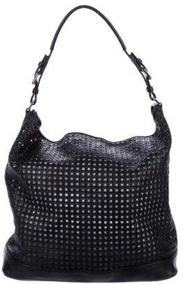 Michael Kors Perforated Leather Satchel
