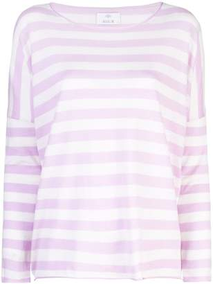 Allude striped long sleeve jumper