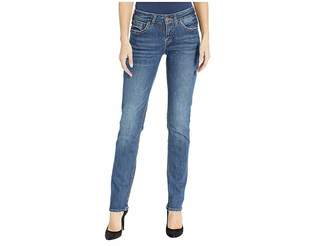 Silver Jeans Co. Suki Mid-Rise Perfectly Curvy Straight Leg Jeans in Indigo