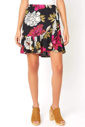 Billabong Floral Wrap For The Ride Mini Skirt