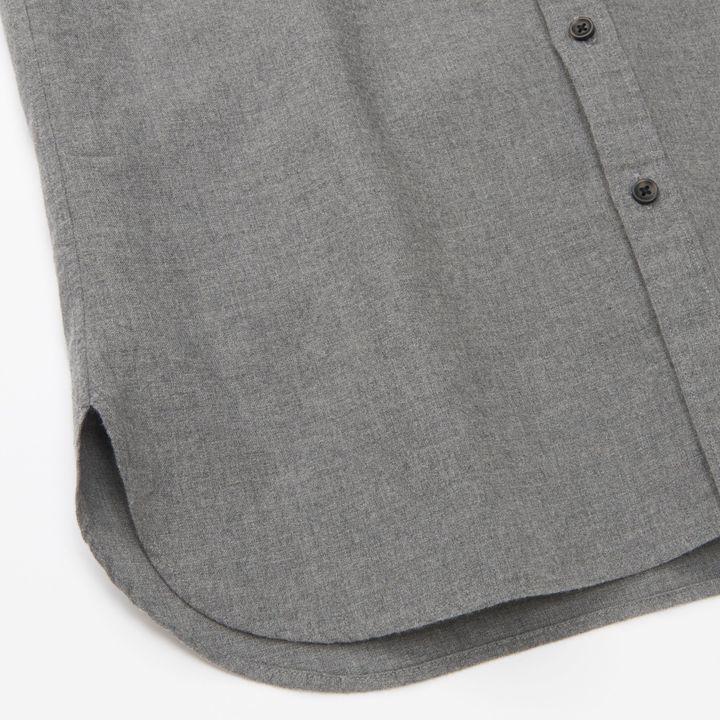 Men Flannel Stand Collar Long Sleeve Shirt 6