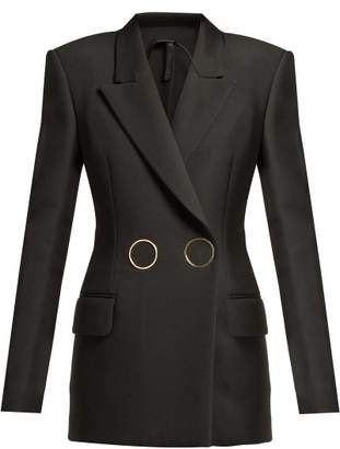 Petar Petrov Jasmin Double Breasted Wool Blazer - Womens - Black