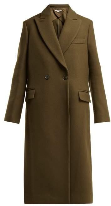 Catherine Double Breasted Wool Coat - Womens - Khaki