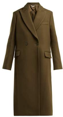 Stella McCartney Catherine Double Breasted Wool Coat - Womens - Khaki