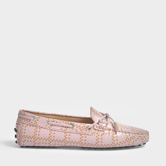 Tod's Gommino Scooby Doo Moccasins in Pink Printed Calfskin