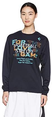 Converse (コンバース) - (コンバース) CONVERSE バスケットボールウェア プリントロングスリーブTシャツ 17FW CB372304L [レディース] CB372304L 2900 ネイビー S