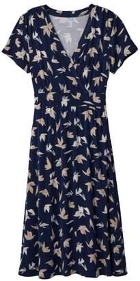 L.L. Bean L.L.Bean Women's Summer Knit Dress, Short-Sleeve Print