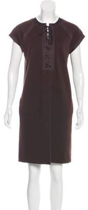 Bottega Veneta Wool Lace-Up Dress