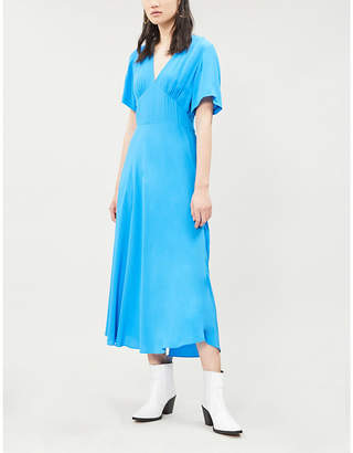 Samsoe & Samsoe Cindy flared-skirt crepe dress