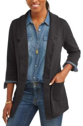 Alison Andrews Women's 3/4 Sleeve French Terry Blazer