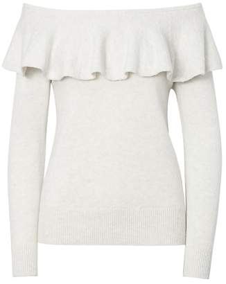 Banana Republic Feather Touch Ruffle Off-the-Shoulder Sweater