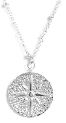 Argentovivo North Star Medallion Necklace