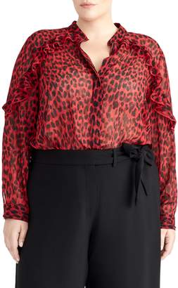 Rachel Roy Collection Ruffle Sleeve Top