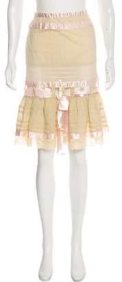 Blumarine Flared Knee-Length Skirt