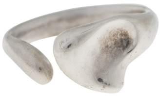 Tiffany & Co. Elsa Peretti Sterling Silver Open Bean Ring Size 7
