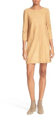 Women's Alice + Olivia Tamar Suede Shift $995 thestylecure.com