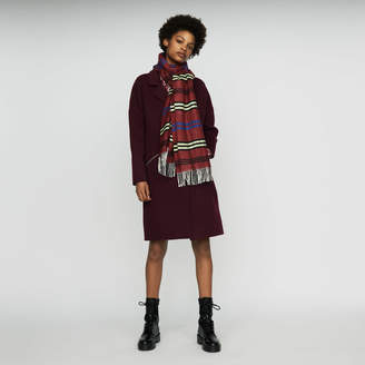 Maje Plaid knit scarf
