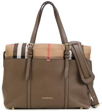 Burberry checked changing bag