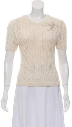 Oscar de la Renta Lightweight Cable Knit Sweater