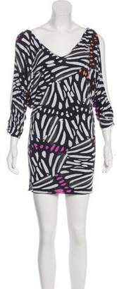 Just Cavalli Printed Cold-Shoulder Tunic