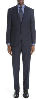 Canali Siena Classic Fit Check Wool Suit