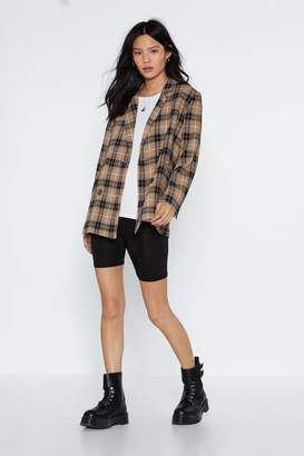 Nasty Gal Check Me Relaxed Blazer